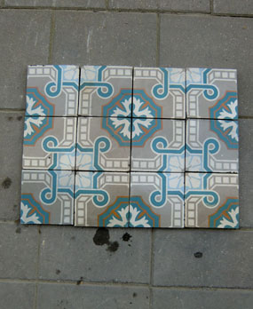 Antique  floor tiles model: Art-deco ceramic motif tiles