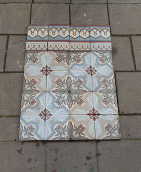 Antike Bodenfliesen Jugendstil Keramik Muster Fliesen Hestia