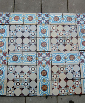 Antique  floor tiles modell : Art-Deco ceramic motif tiles