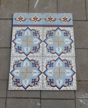 Antique floor tiles modell :Jugendstil ceramic motif tiles