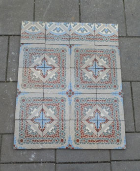 Antique floor tiles modell : Jugendstil ceramic motif tiles
