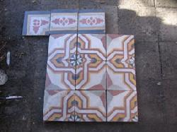 Antique  floor tiles model: Art-deco cement motif tiles