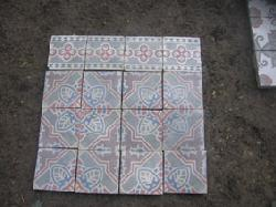 Antique floor tiles model: Art-Nouveau cement motif tiles