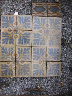 Antique  floor tiles model: Jugendstil cement motif tiles